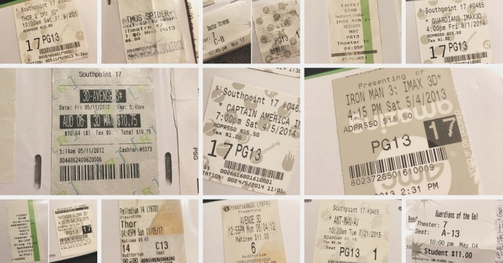 MCU Ticket Stubs